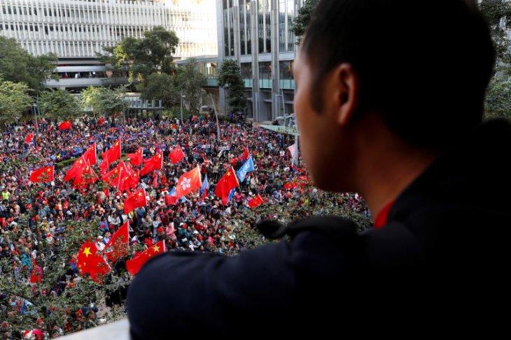 Unjuk rasa anti-pemerintah terbesar berlangsung di Hong Kong