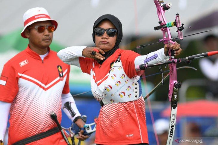 Trio srikandi Indonesia kehilangan emas compund putri