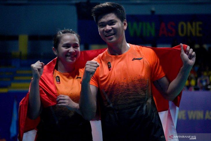 SEA Games 2019, Greysia/Apriyani sumbang emas terakhir bulu tangkis untuk Indonesia