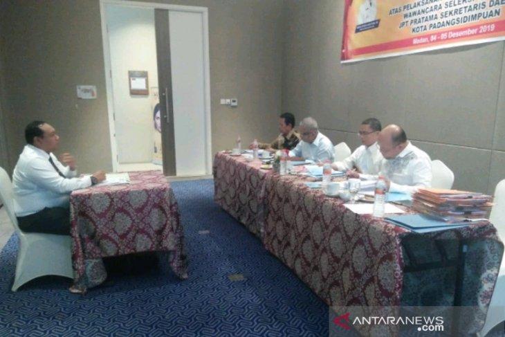 Tujuh  calon Sekda Padangsidimpuan lolos tes wawancara