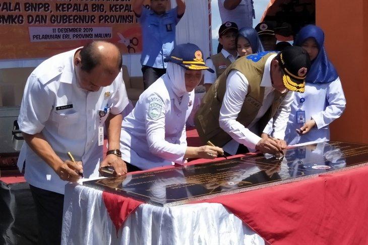 Empat lembaga - Pemprov Maluku resmikan sistem peringatan dini tsunami di Ambon
