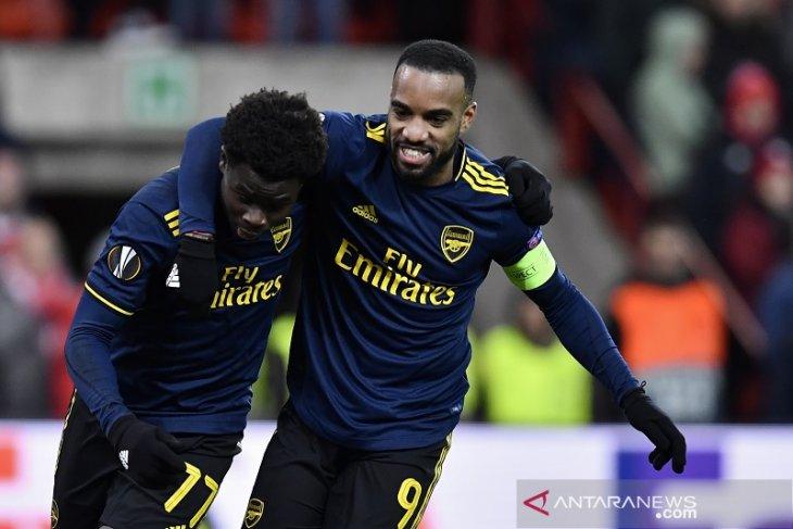 Arsenal lolos 32 besar Liga Europa sebagi juara grup