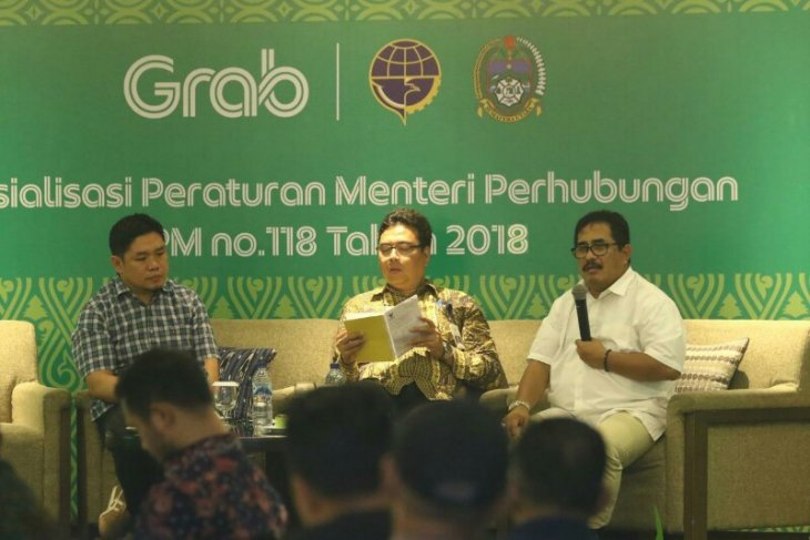 Grab sosialisasikan penerapan PM 118/2018 ke mitra pengemudi