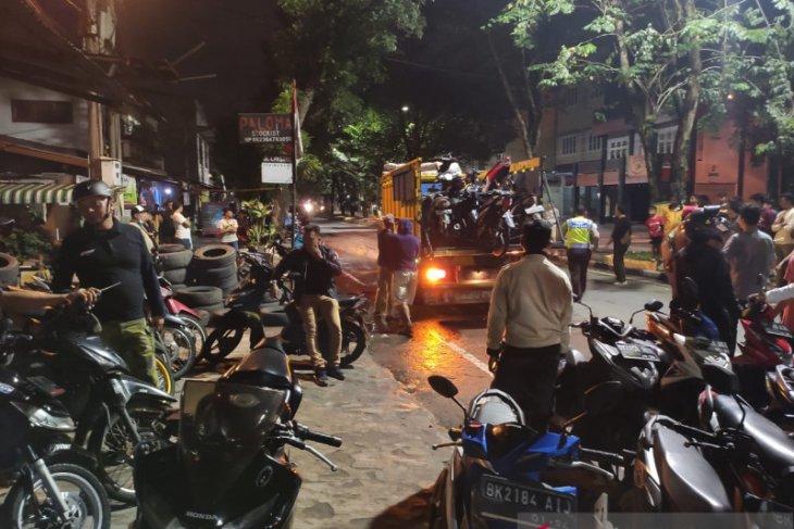 Polisi amankan puluhan unit motor milik geng motor di Medan