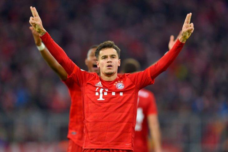 Liga Jerman, Hattrick Coutinho bawa Muenchen benamkan Bremen