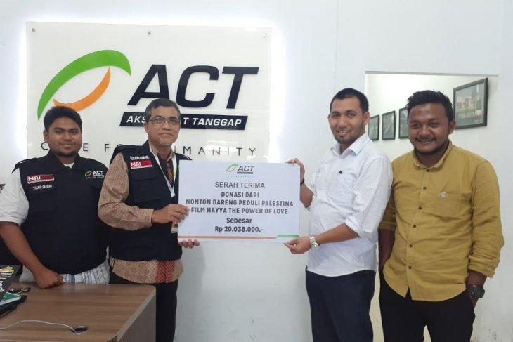 Film Hayya hasilkan Rp20 juta donasikan ke Palestina melalui ACT Aceh