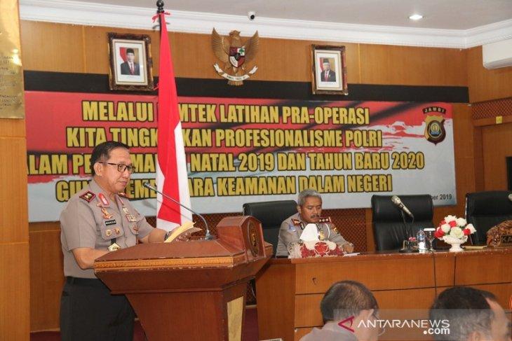 Kapolda Jambi membuka  pelatihan pra-Operasi Lilin 2019