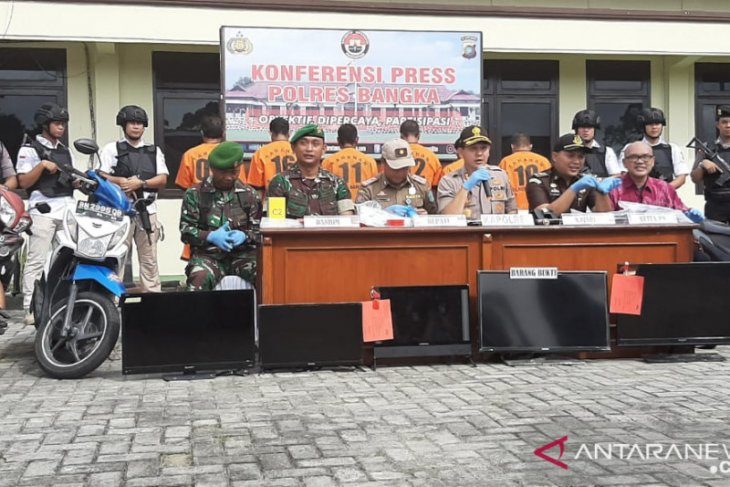 Polres Bangka amankan tujuh orang tersangka tambang timah ilegal
