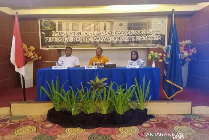 BNNP Sultra evaluasi pelaksanaan advokasi pembangunan berwawasan antinarkoba