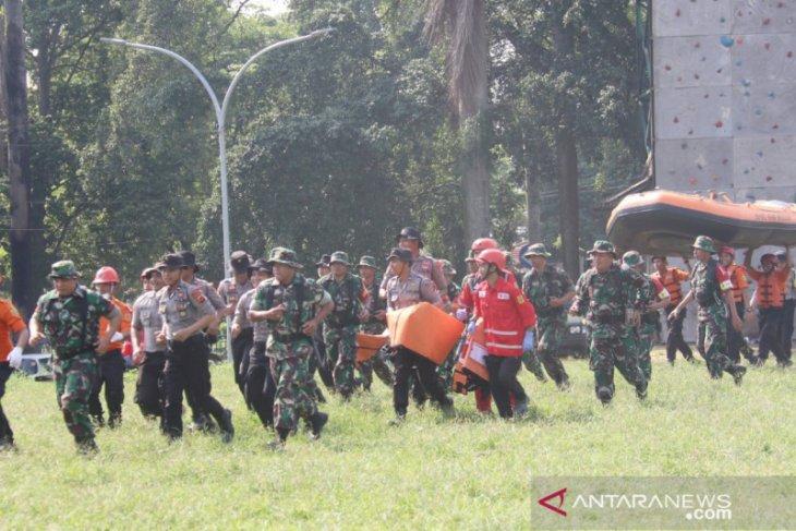 Pemkab Bogor gelar simulasi penanganan bencana