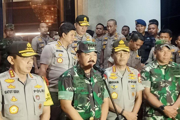 Panglima instruksikan Polri dan TNI beri pelayanan humanis di tahun baru