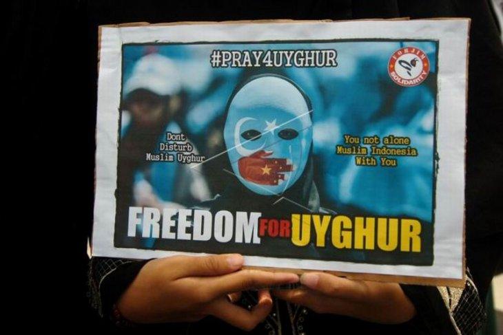 Aksi solidaritas Uyghur