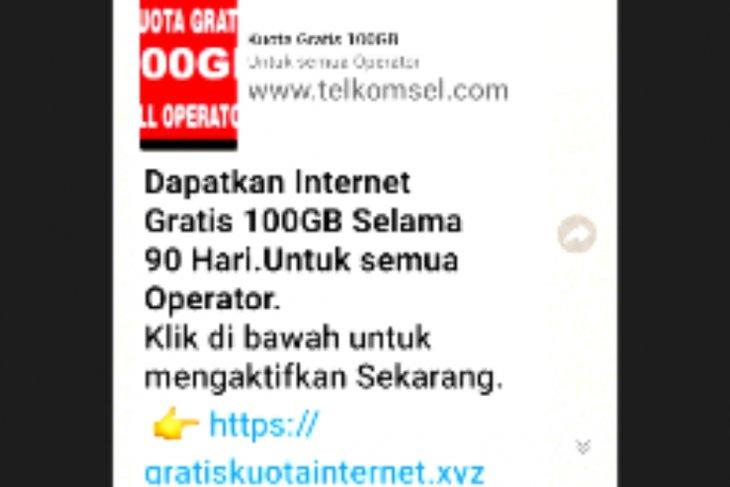 Awas Penipuan Kuota Internet Gratisan Via Whattsapp Antara News Kalimantan Utara