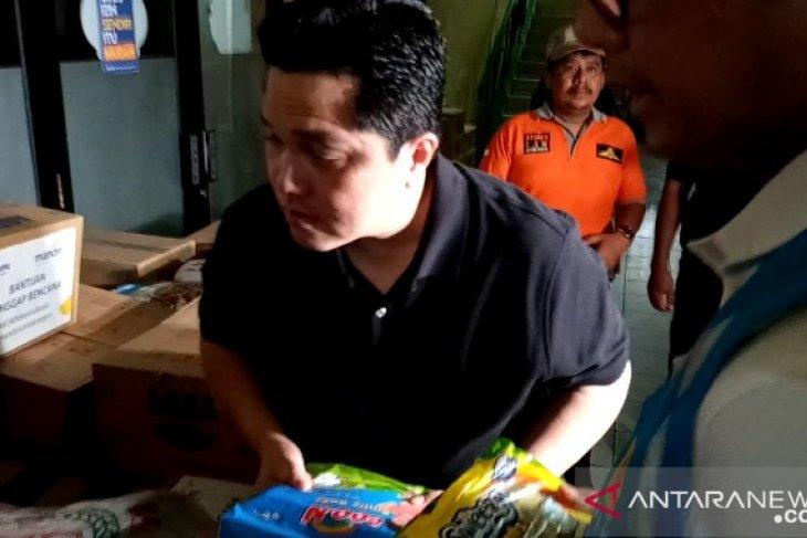 Menteri BUMN berkolaborasi dengan BNPB terkait bantuan banjir
