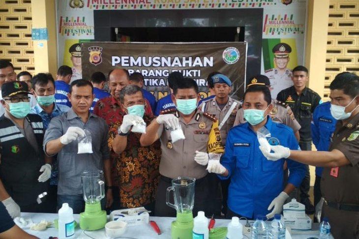 Polresta Banda Aceh amankan tujuh paket sabu siap edar