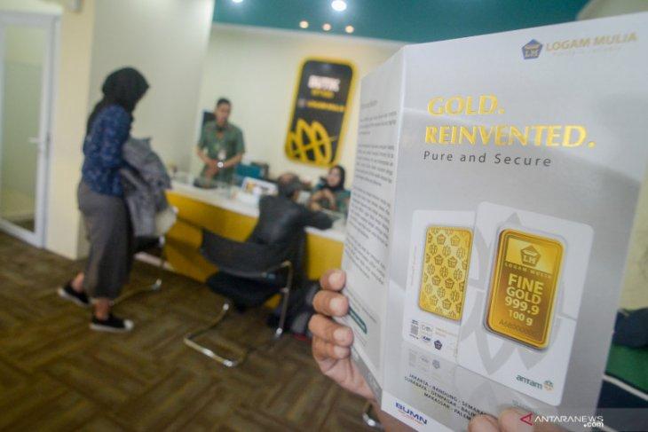 Harga emas Antam merangkak naik Rp3.000