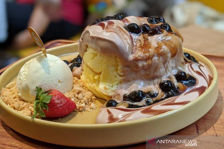 Choco Lava Boba Pancake di Pan & Co.