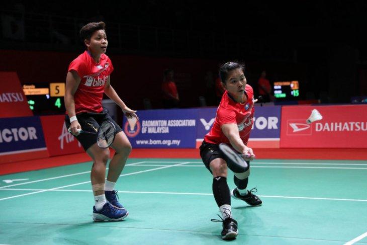 Greysia/Apriyani dihentikan ganda China di semifinal Malaysia Masters 2020