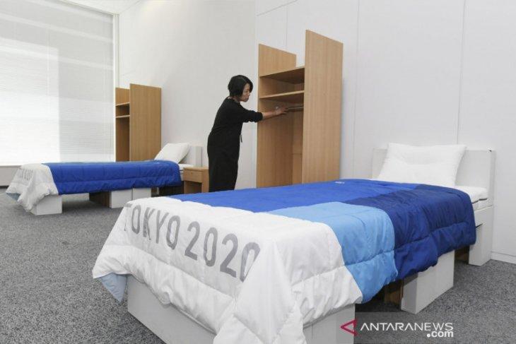 Tempat tidur atlet Olimpiade 2020 Tokyo dibuat dari kardus daur ulang