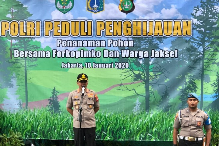 Tree planting made mandatory for S Jakarta's promoted police officers