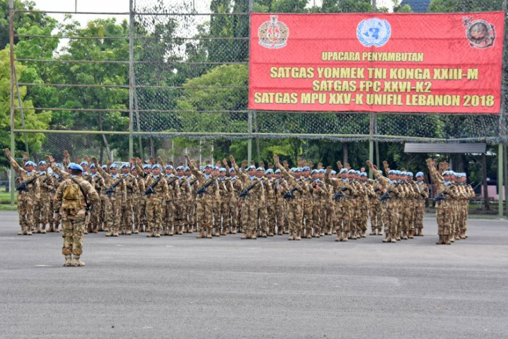 117 prajurit Satgas Unifil Lebanon kembali ke Indonesia
