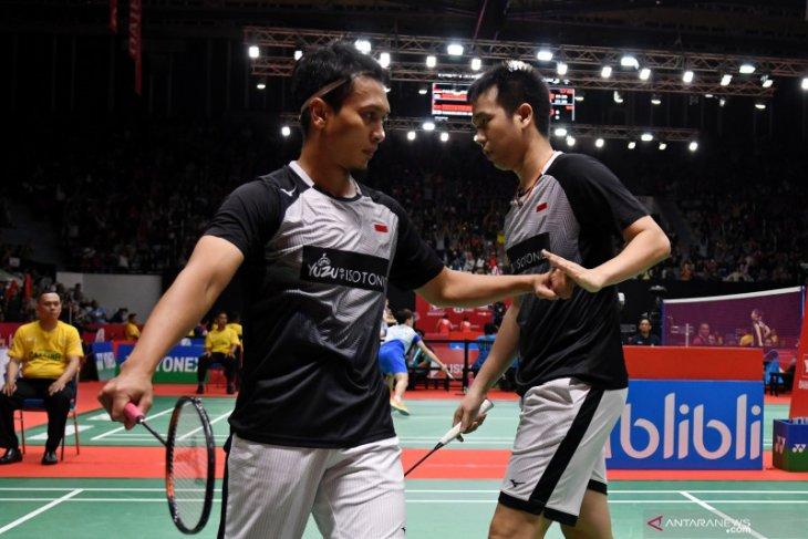 Sempat tertinggal, Hendra/Ahsan bangkit untuk amankan tiket semifinal Indonesia Masters