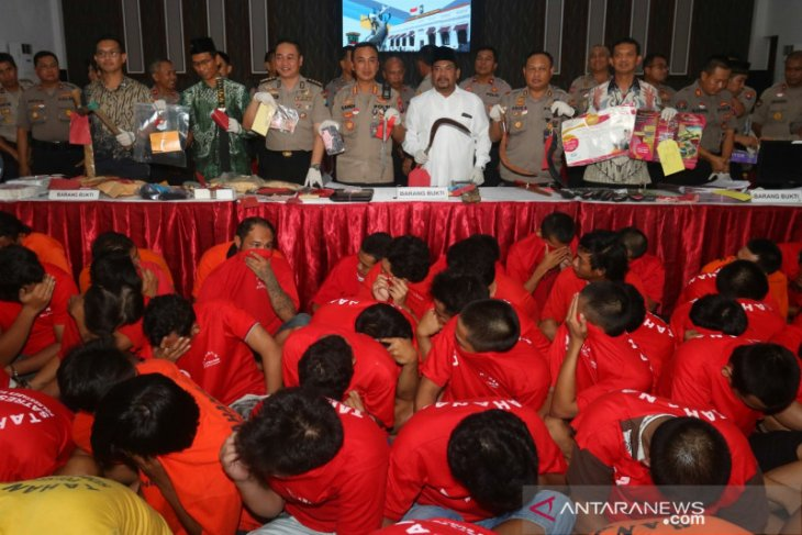 Polisi Surabaya ringkus puluhan bandit selama dua pekan