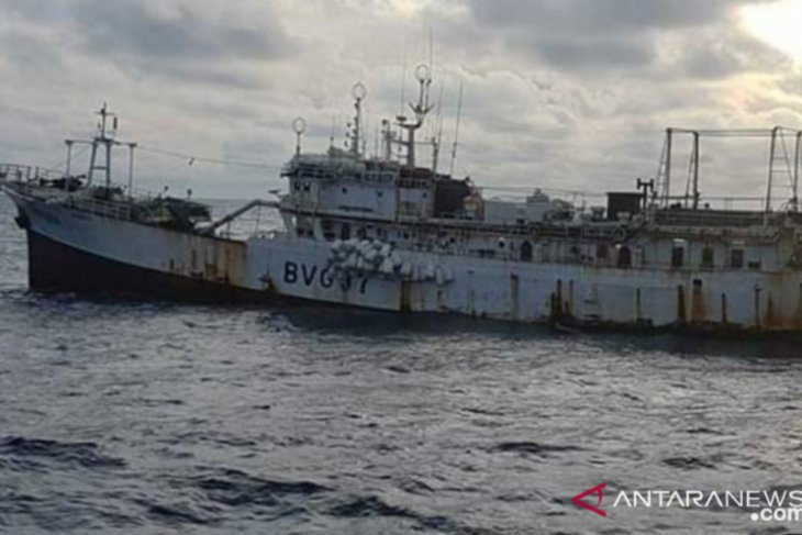 Seized Chinese fishing vessel sank in Semau Island waters, NTT