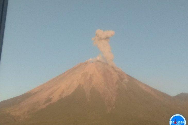 Gunung Semeru erupsi dan semburkan abu setinggi 400 meter