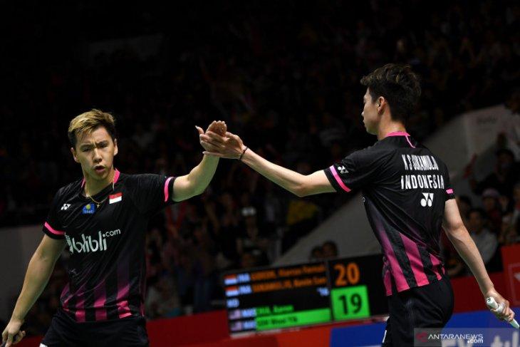 Indonesia pastikan gelar juara ganda putra