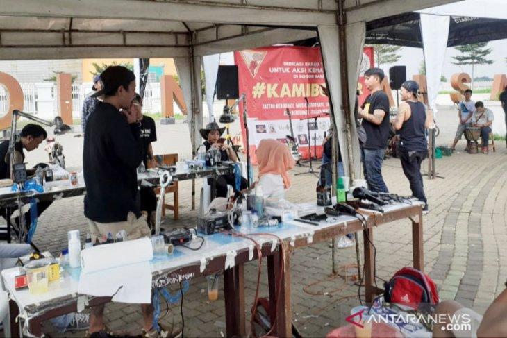 "Komunitas ""Baraya Tato Bogor Raya"" galang dana untuk korban bencana Bogor"