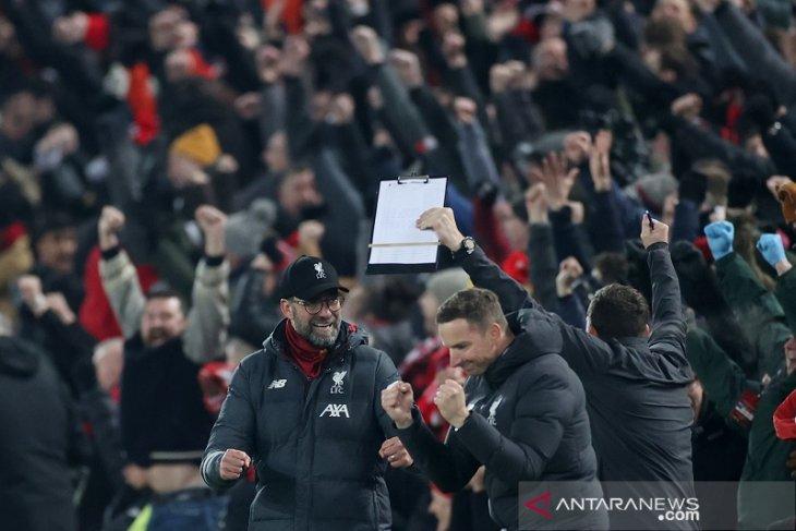 Hasil Liga Inggris: Liverpool makin menjauh dengan unggul 16 poin
