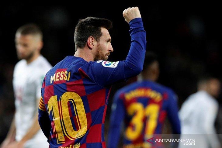 Lionel Messi pastikan debut Setien dan Barcelona raih kemenangan