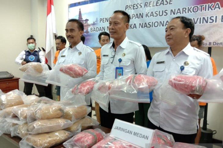 BNN  gagalkan peredaran 29 kg ganja jaringan Medan-Bali