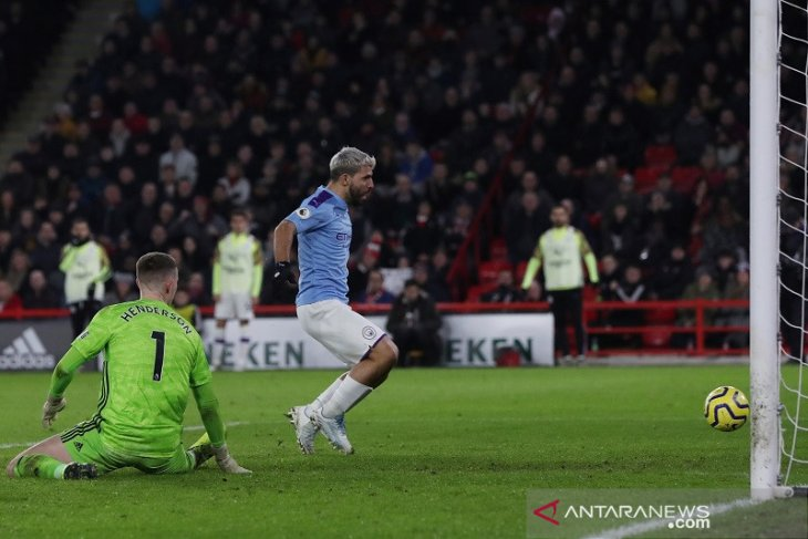 Liga Inggris: Man City vs Sheffield United, Aguero cetak gol penentu