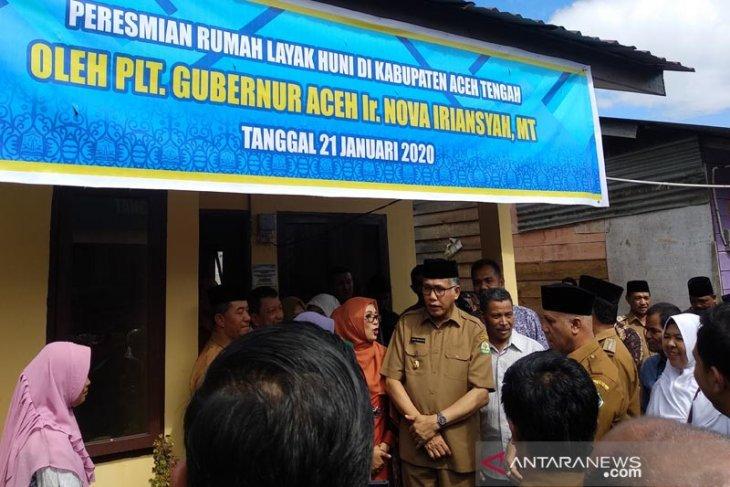 Plt Gubernur Nova Iriansyah resmikan tiga proyek APBA di Aceh Tengah