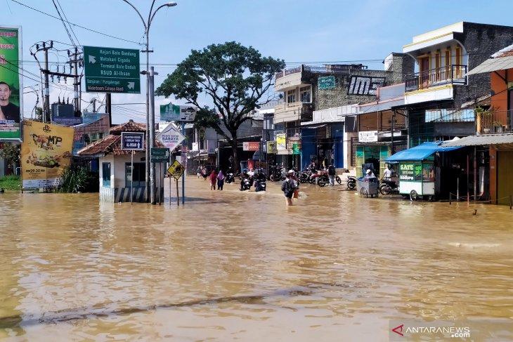 Banjir kembali melanda empat kecamatan Kabupaten Bandung