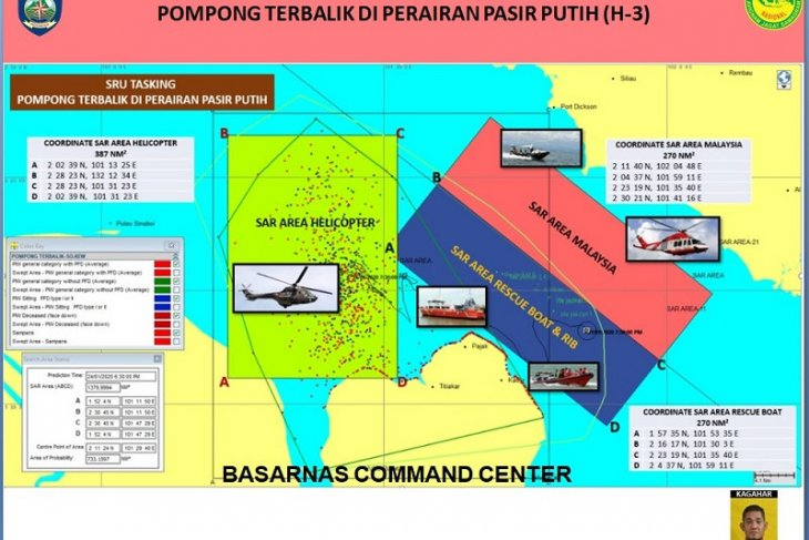 Malaysian SAR helps search sunken boat's missing passengers in Riau