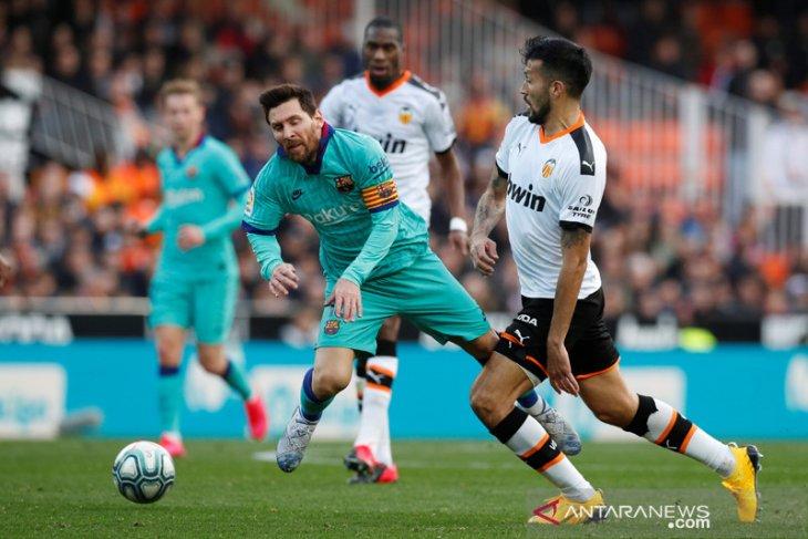 Barcelona dominan tanpa hasil, tersungkur 0-2 di Valencia