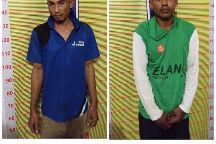 Satresnarkoba Polres Langkat tangkap dua warga Tanjung Pura miliki sabu-sabu