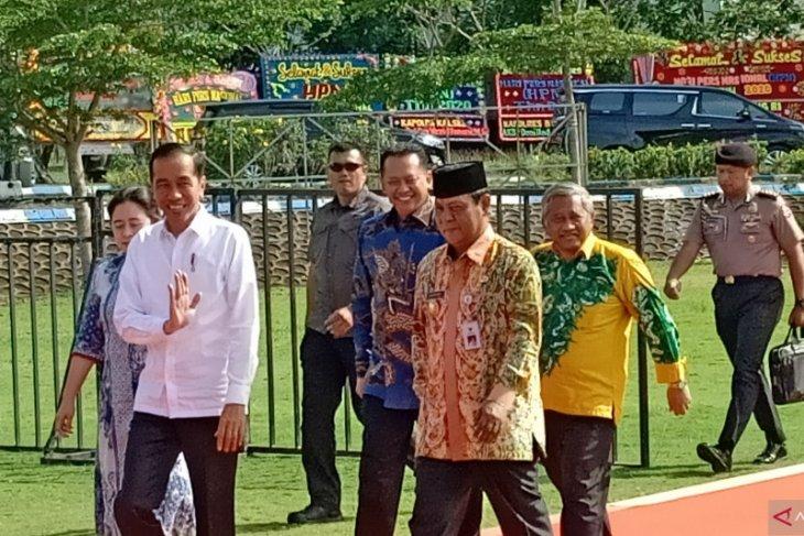 Presiden Jokowi tiba di arena HPN 2020