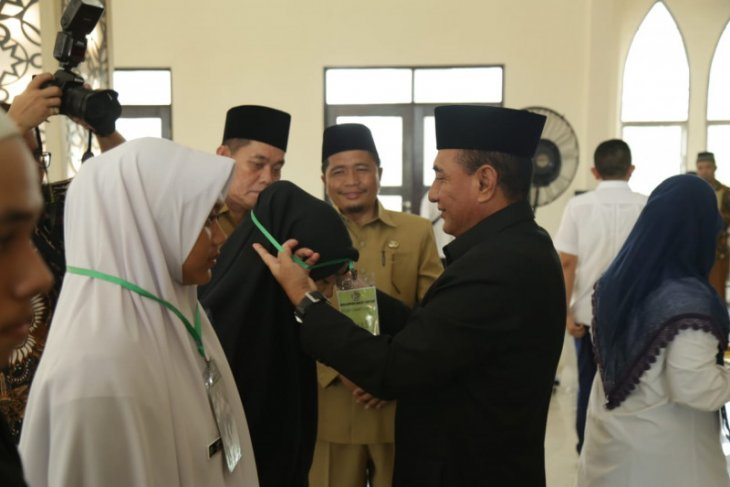 Jelang MTQ, , Gubsu apresiasi Study Camp Qurani Tebing Tinggi