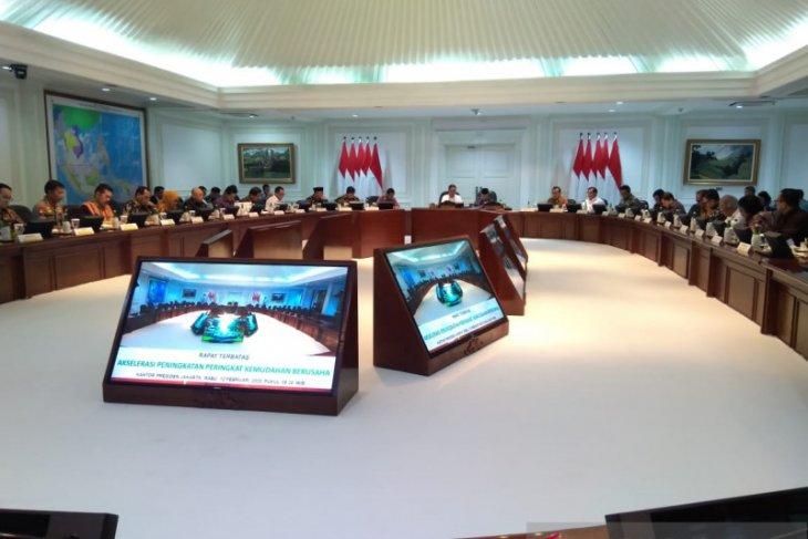 Presiden Jokowi minta prosedur ruwet saat memulai usaha segera dibenahi