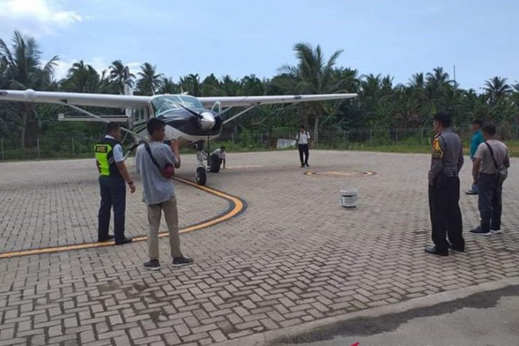 Polisi pantau latihan terbang di Bandara Smart Semelagi Kecil