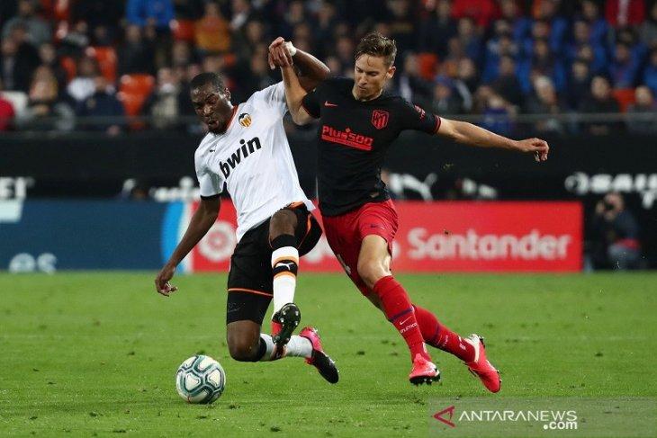 Liga Spanyol: Dua kali memimpin, Atletico ditahan Valencia 2-2