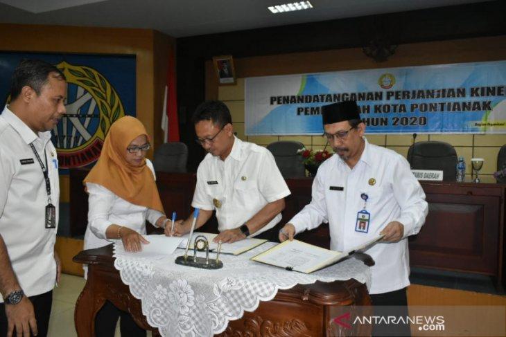 OPD di lingkungan Pemkot Pontianak tandatangani perjanjian kinerja