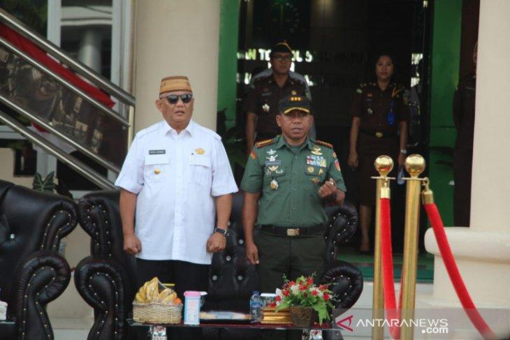 Danrem 133 apresasi pencanangan zona integritas Kejati Gorontalo