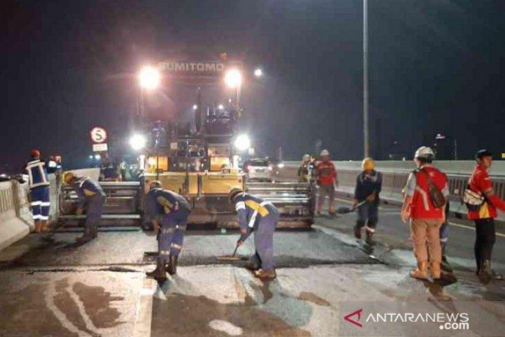 Jalan Tol Japek Layang dilakukan pelebaran dan pengerasan