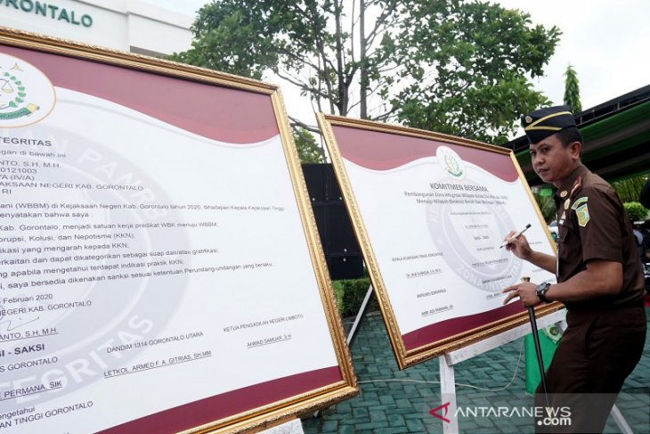 Kejari Kabupaten Gorontalo canangkan zona integritas WBK