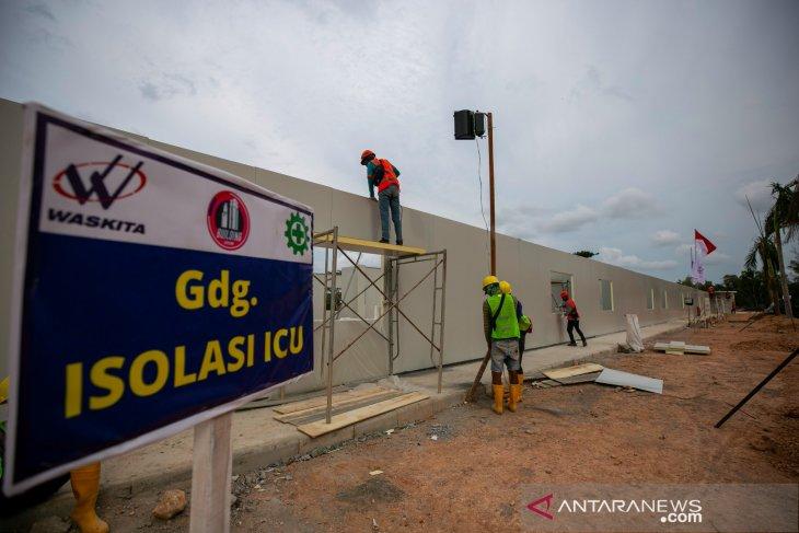 Progres pembangunan rs khusus Corona di Batam